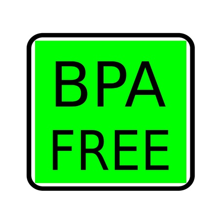 bpa: BPA FREE black stamp text on green background