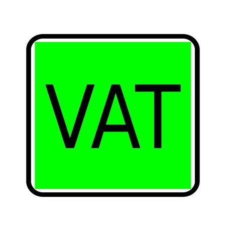 vat: Vat black stamp text on green background