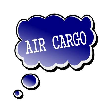 air cargo: air cargo white stamp text on blueblack Speech Bubble Stock Photo