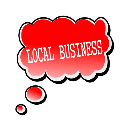 local business: Local Business white stamp text on red Speech Bubble Stock Photo