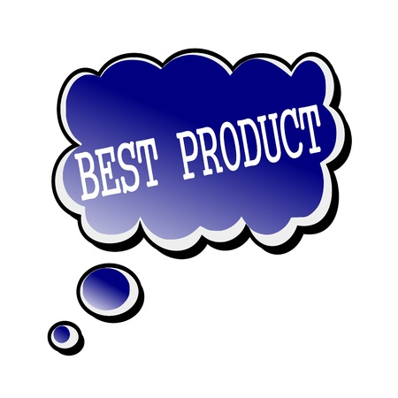 best product: best product white stamp text on blueblack Speech Bubble