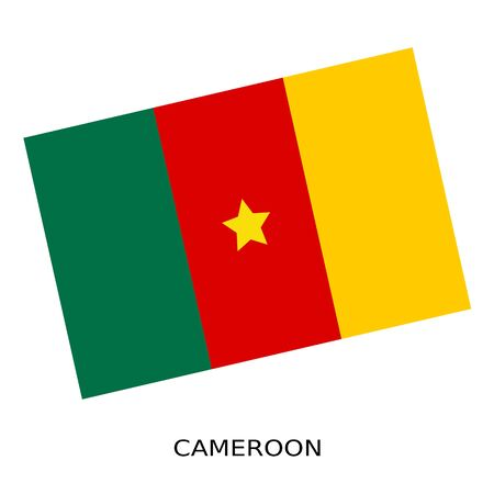 cameroon: National flag of Cameroon Stock Photo