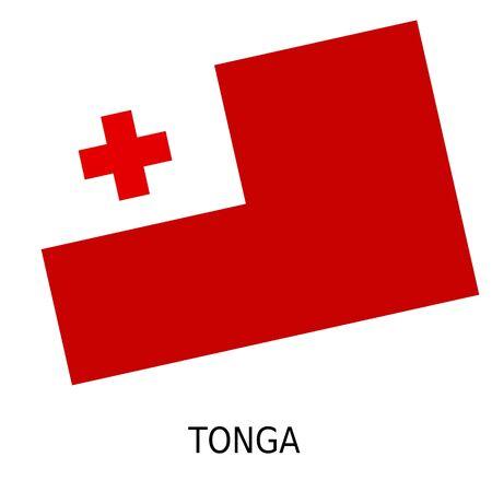 tonga: National flag of Tonga Stock Photo