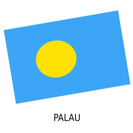 palau: National flag of Palau