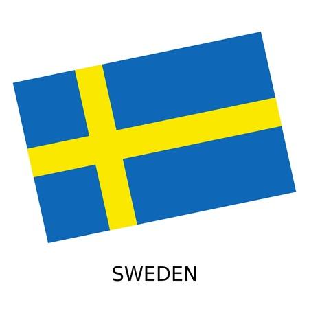 sweden: National flag of Sweden