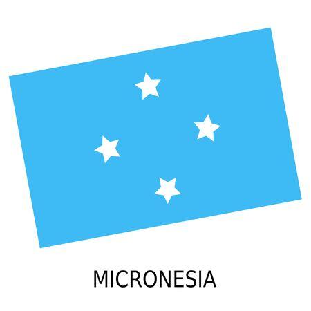 micronesia: National flag of Micronesia Stock Photo