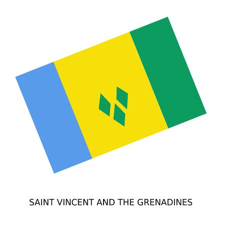 grenadines: National flag of Saint Vincent and the Grenadines Stock Photo