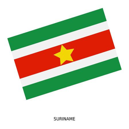 Suriname: National flag of Suriname Stock Photo