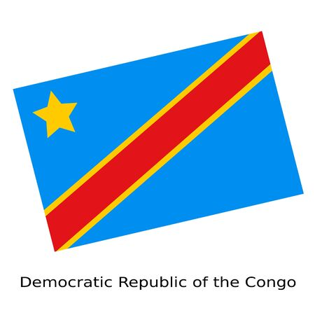 democratic: National flag of Democratic Republic of the Congo Stock Photo