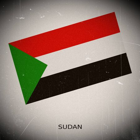 Sudan: National flag of Sudan Stock Photo
