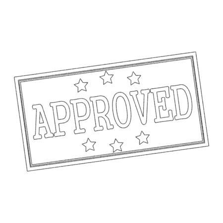 approved: approved Text Written In Pencil Stock Photo