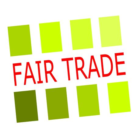 fair trade: Fair Trade red stamp text on white Stock Photo