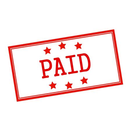 paid: Paid red stamp text on white Stock Photo