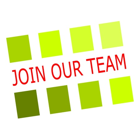 join our team: Join our team red stamp text on white