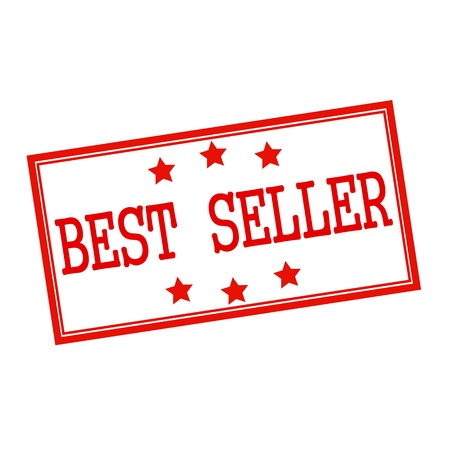 the seller: Best seller red stamp text on white