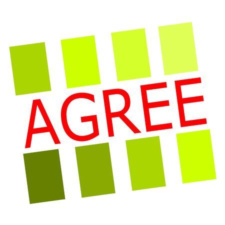 agree: Acordar texto del sello rojo sobre blanco