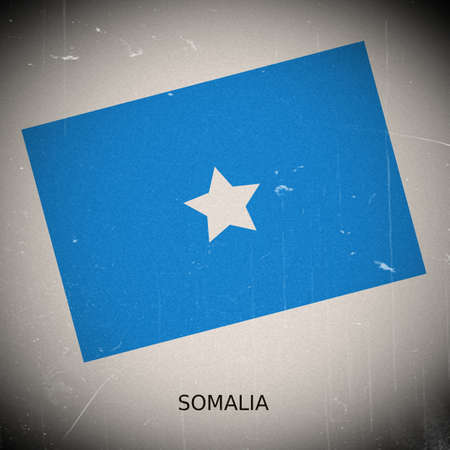 somalia: National flag of Somalia Stock Photo