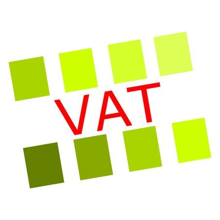 vat: Vat red stamp text on white Stock Photo