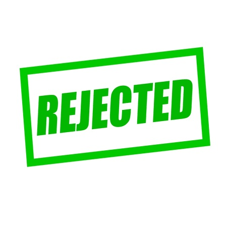 rejected: rejected green stamp text on white