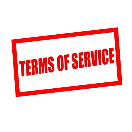 terms: terms of service red stamp text on white