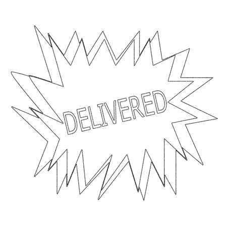 delivered: delivered monochrome stamp text on white blast