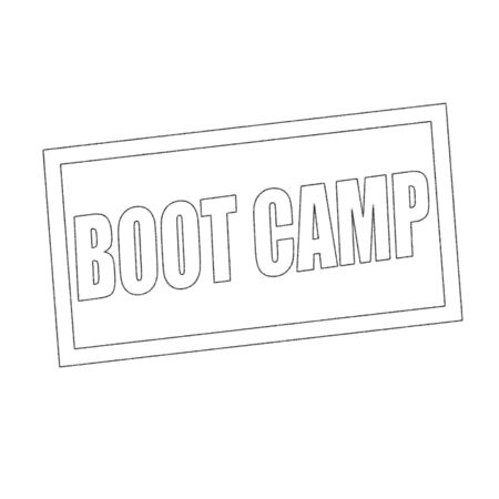 boot camp: boot camp Monochrome stamp text on white Stock Photo