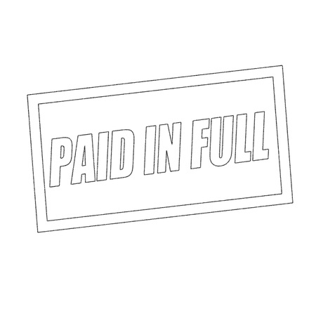 paid stamp: paid in full Monochrome stamp text on white