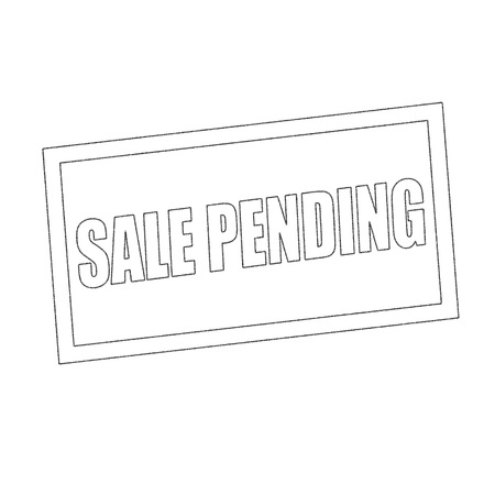 pending: sale pending Monochrome stamp text on white