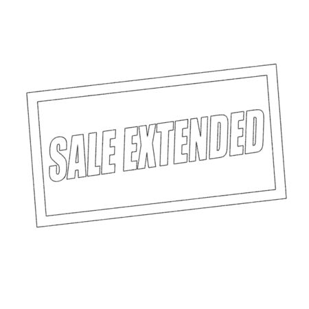 extended: sale extended Monochrome stamp text on white Stock Photo