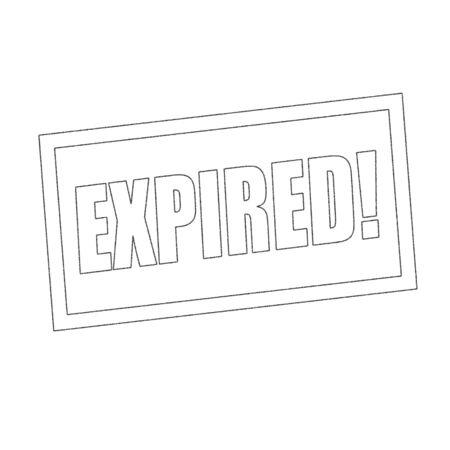 expired: expired Monochrome stamp text on white