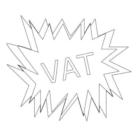 vat: Vat monochrome stamp text on white blast