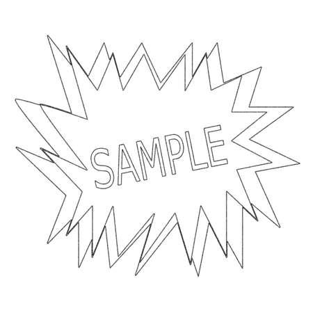 sample: sample monochrome stamp text on white blast Stock Photo