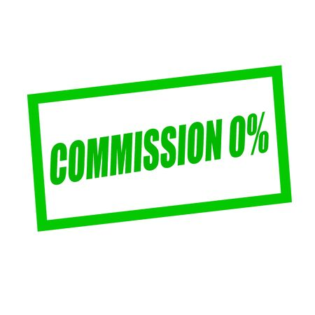 commission zero percent green stamp text on white