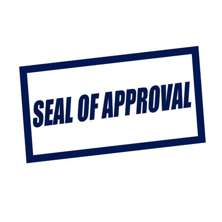 approval stamp: seal of approval blueblack stamp text on white
