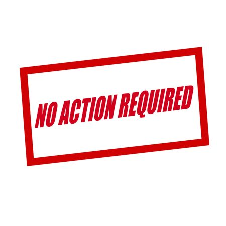 required: no action required red stamp text on white Stock Photo