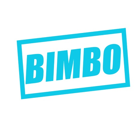bimbo: BIMBO blue stamp text on white