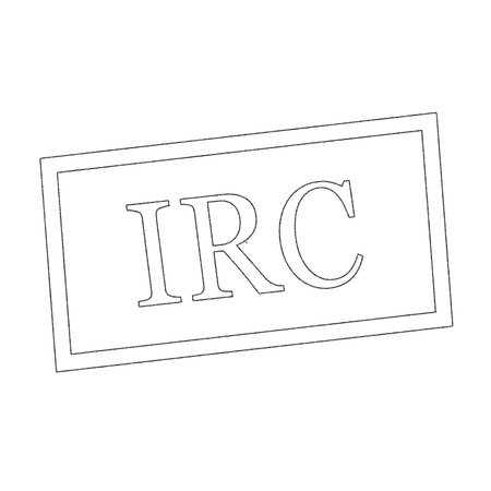 irc: IRC Monochrome  stamp text on white