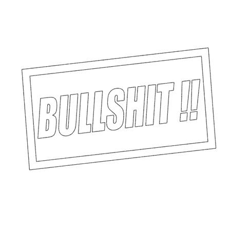 bullshit: BULLSHIT Monochrome stamp text on white