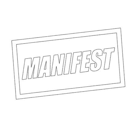manifest: manifest Monochrome stamp text on white