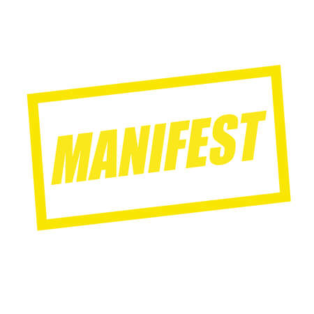 manifest: manifest yellow stamp text on white