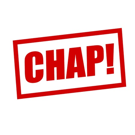 chap: chap red stamp text on white
