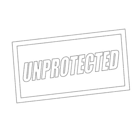 unprotected: unprotected Monochrome stamp text on white