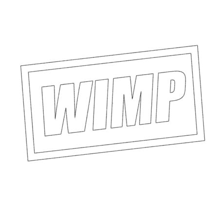 wimp: WIMP Monochrome stamp text on white