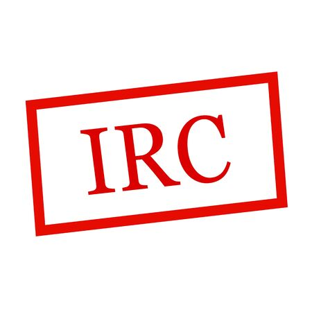 irc: IRC red stamp text on white Stock Photo