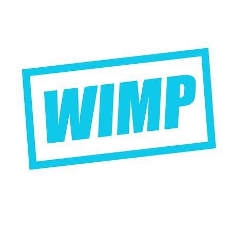 wimp: WIMP blue stamp text on white Stock Photo