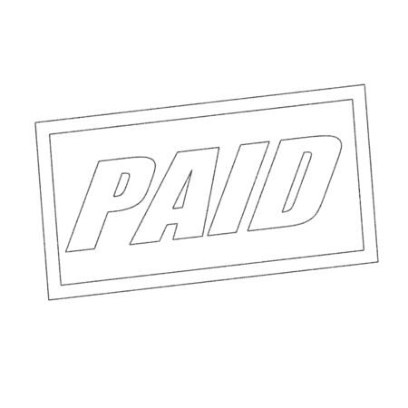 paid: paid Monochrome stamp text on white