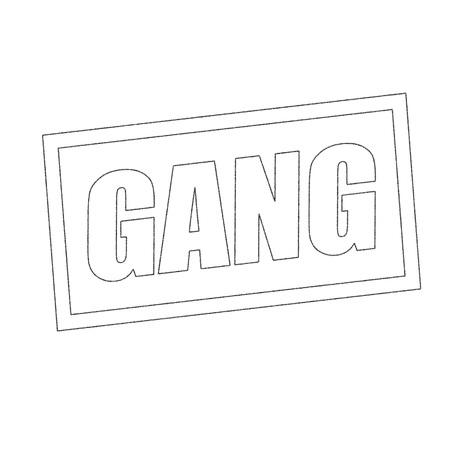 pandilleros: GANG monocromo texto del sello en blanco Foto de archivo