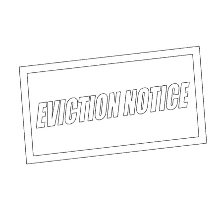 eviction: eviction notice Monochrome stamp text on white Stock Photo