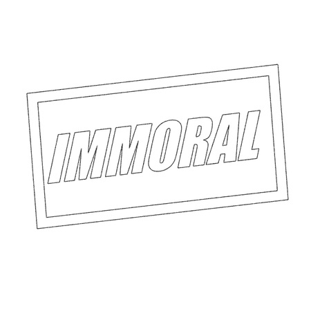 immoral: immoral Monochrome stamp text on white