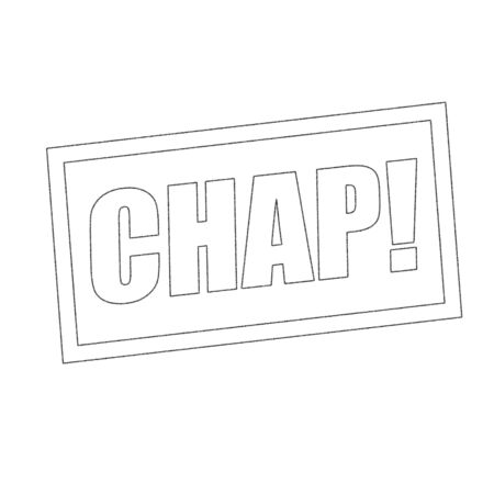 chap: chap Monochrome stamp text on white